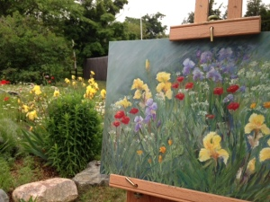 Leila's Garden and Easel
