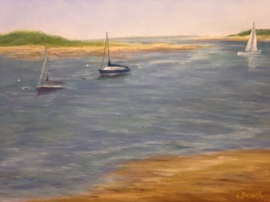 """Wellfleet Morning"", pastel 11x14"