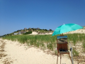 On location at Corn Hill Beach