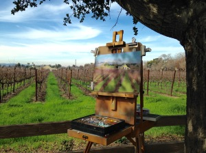 On location in the vineyard